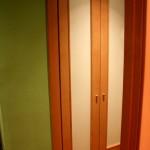 batientes 2 puertas  cristal blanco