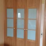 batientes 3 puertas  roble cristal azul