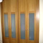 batientes 4 puertas roble con cristal acido