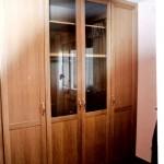 batientes 4 puertas  roble cristal transparente central