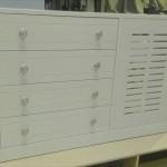 mueble recibidor cubreradiador lacado