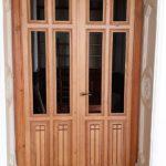 puerta pino macizo a medida vidriera
