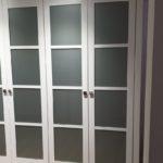 armario 4 puertas lacadas cristal gris