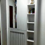 mueble entrada en melamina roble blanco