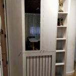 mueble entrada en melamina roble blanco2