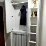 mueble entrada en melamina roble blanco3
