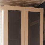 mueble melamina roble blanco y cristal lacobel