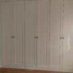 armario plafonado batiente 6 puertas lacado blanco