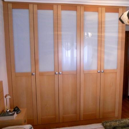 batiente 5 puertas haya con cristal blanco